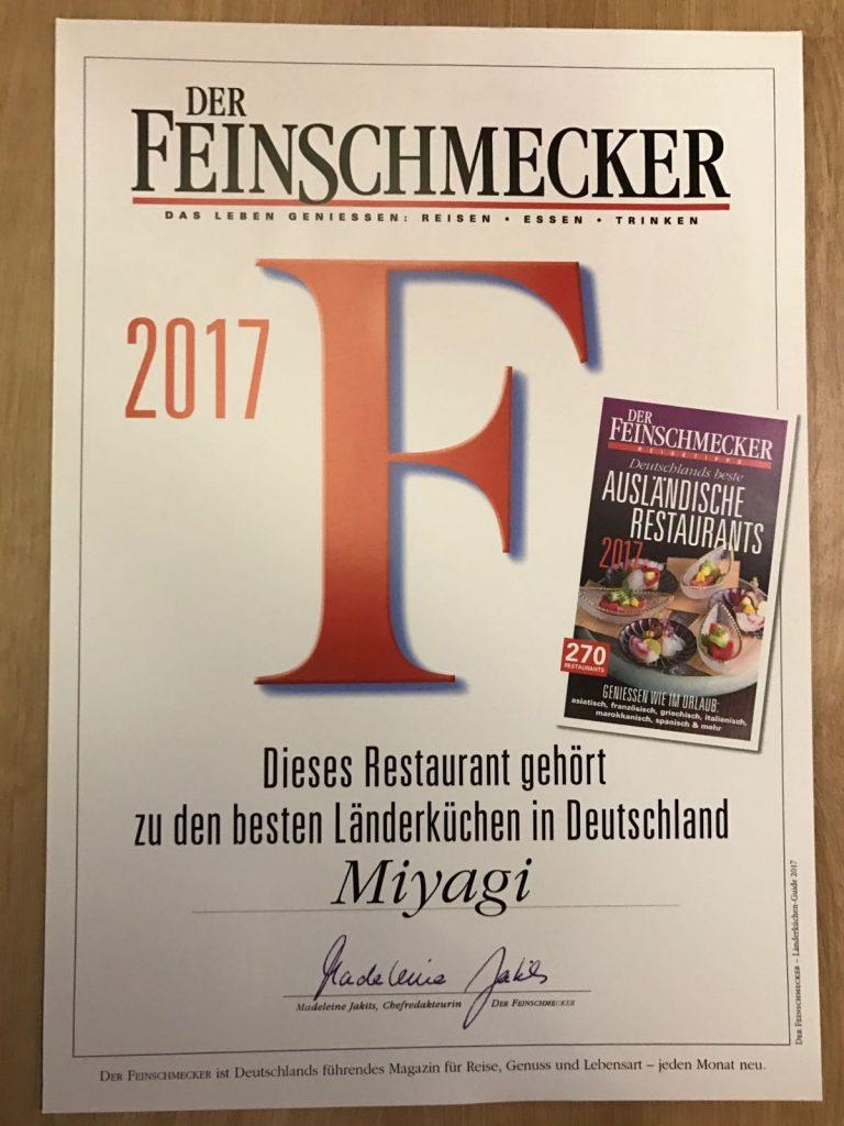 Der Feinschmecker: Miyagi gehört zu den besten Länderküchen in Deutschland