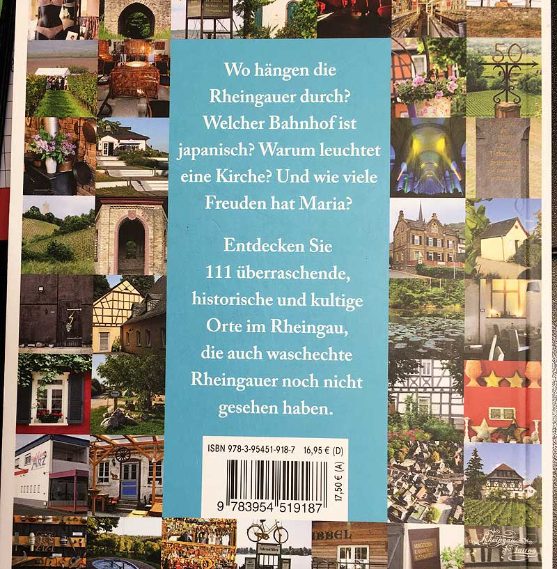 Buch: 111 Orte, die man im Rheingau gesehen haben muss