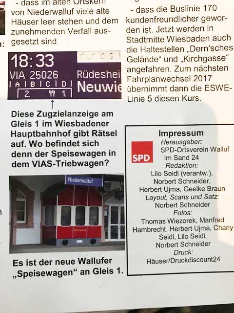 SPD-Zeitung Walluf